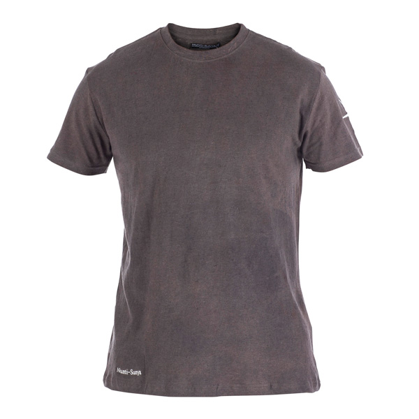Organic mens hemp t shirt in deep iron colour for Mens hemp t shirts